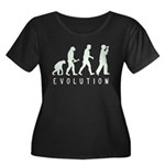 Evolutio Women's Plus Size Scoop Neck Dark T-Shirt
