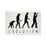 Evolution: Birder Rectangle Magnet