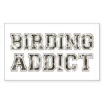 Birding Addict Sticker (Rectangle)