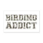 Birding Addict Rectangle Car Magnet