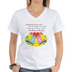 Birding With You Women's V-Neck T-Shirt