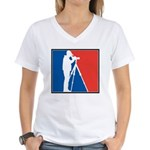 Major League Birder Women's V-Neck T-Shirt
