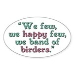 Band of Birders Sticker (Oval)