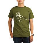 Stylized Lark Organic Men's T-Shirt (dark)