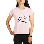Stylized Swan Performance Dry T-Shirt
