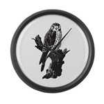 American Kestrel Sketch Large Wall Clock