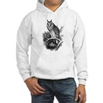 Long-eared Owl Sketch Hooded Sweatshirt