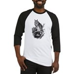 Long-eared Owl Sketch Baseball Jersey