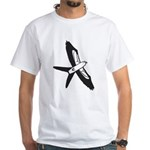 Scissor-tailed Kite Cartoon White T-Shirt