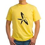 Scissor-tailed Kite Cartoon Yellow T-Shirt