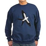 Scissor-tailed Kite Cartoon Sweatshirt (dark)