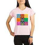 Pop Art Owl Face Performance Dry T-Shirt