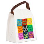 Pop Art Owl Face Canvas Lunch Bag