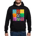 Pop Art Owl Face Hoodie (dark)