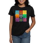 Pop Art Owl Face Women's Dark T-Shirt