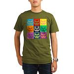 Pop Art Owl Face Organic Men's T-Shirt (dark)