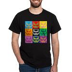 Pop Art Owl Face Dark T-Shirt