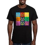 Pop Art Owl Face Men's Fitted T-Shirt (dark)