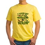 I Love My Backyard Birds Yellow T-Shirt
