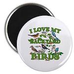 I Love My Backyard Birds Magnet