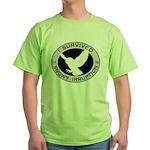 Snowy Owl Irruption Green T-Shirt