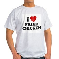I Love [Heart] Fried Chicken Light T-Shirt