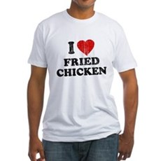 I Love [Heart] Fried Chicken Fitted T-Shirt