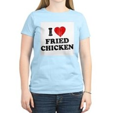 I Love [Heart] Fried Chicken Womens Light T-Shirt