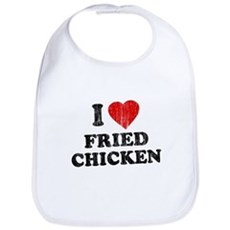I Love [Heart] Fried Chicken Bib