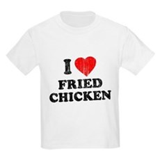 I Love [Heart] Fried Chicken Kids Light T-Shirt