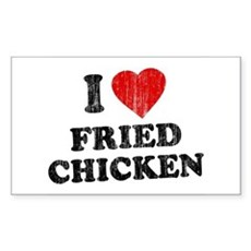 I Love [Heart] Fried Chicken Rectangle Sticker
