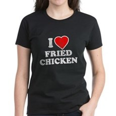 I Love [Heart] Fried Chicken Womens T-Shirt