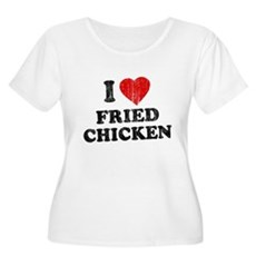 I Love [Heart] Fried Chicken Womens Plus Size Sco