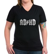 AD/HD Womens V-Neck T-Shirt