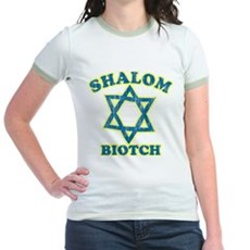 Shalom Biotch Jr Ringer T-Shirt