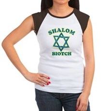 Shalom Biotch Womens Cap Sleeve T-Shirt