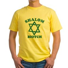 Shalom Biotch Yellow T-Shirt