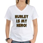 Hurley is My Hero Women's V-Neck T-Shirt