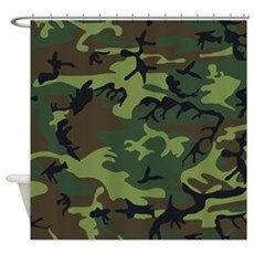 Combat Army Camouflage Curt Shower Curtain