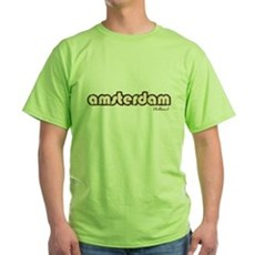 Amsterdam Holland (Vintage) Green T-Shirt