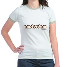 Amsterdam Holland (Vintage) Jr Ringer T-Shirt