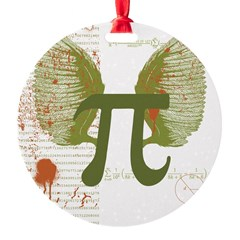 Pi Art Round Ornament