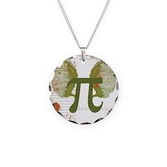 Pi Art Necklace Circle Charm