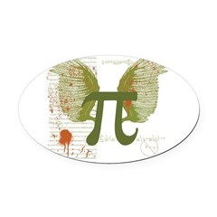 Pi Art Oval Car Magnet
