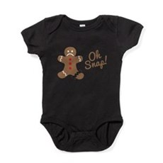 Oh Snap Gingerbread Man Baby Bodysuit