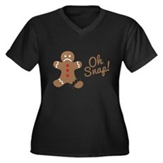 Oh Snap Gingerbread Man Plus Size T-Shirt