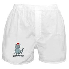 Meowy Christmas Christmas Cat Boxer Shorts