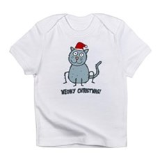 Meowy Christmas Christmas Cat Infant T-Shirt