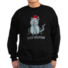 Meowy Christmas Christmas Cat Sweatshirt
