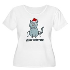 Meowy Christmas Christmas Cat Plus Size T-Shirt